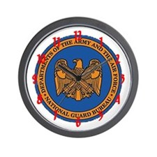 """Army and Air Force National Guard"" Wall Clock"