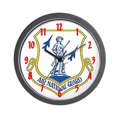 """Air National Guard"" Wall Clock"