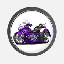 Goldwing Purple Trike Wall Clock
