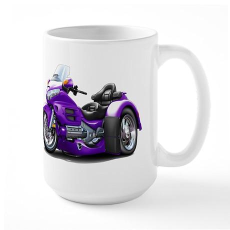 Goldwing Purple Trike Large Mug