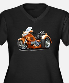 Goldwing Orange Trike Women's Plus Size V-Neck Dar