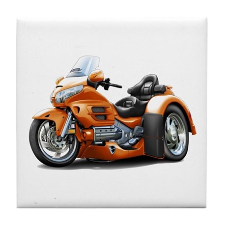 Goldwing Orange Trike Tile Coaster