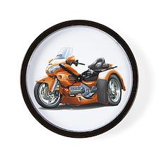 Goldwing Orange Trike Wall Clock