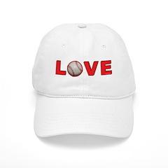 Softball Love 3 Baseball Cap
