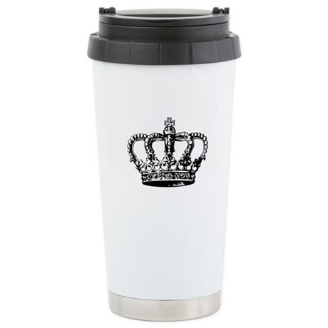 Black Crown Stainless Steel Travel Mug