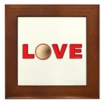 Volleyball Love 3 Framed Tile
