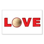 Volleyball Love 3 Sticker (Rectangle 50 pk)