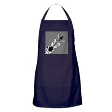 Happy Zebra Apron (dark)
