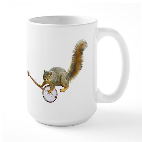 Squirrel with Banjo Large Mug