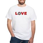 Darts Love 4 White T-Shirt