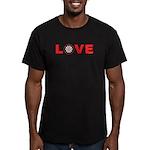 Darts Love 4 Men's Fitted T-Shirt (dark)