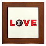 Darts Love 4 Framed Tile