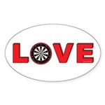 Darts Love 4 Sticker (Oval 10 pk)