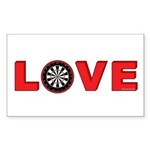 Darts Love 4 Sticker (Rectangle 10 pk)