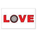 Darts Love 4 Sticker (Rectangle 50 pk)