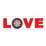 Darts Love 4 Sticker (Bumper 10 pk)