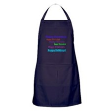 Happy Holiday Apron (dark)