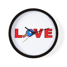 Pong Love Wall Clock