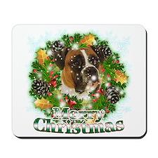 Merry Christmas Boxer Mousepad