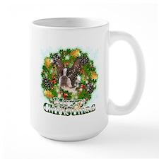 Merry Christmas Boston Terrier Mug