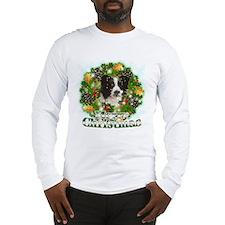 Merry Christmas Border Collie Long Sleeve T-Shirt