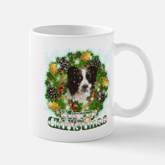 Merry Christmas Border Collie Mug