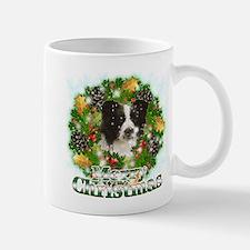 Merry Christmas Border Collie Small Small Mug