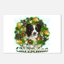 Merry Christmas Border Collie Postcards (Package o