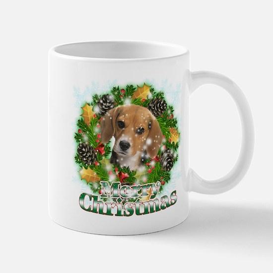 Merry Christmas Beagle Mug