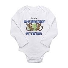 Unique Big brother of twins Long Sleeve Infant Bodysuit