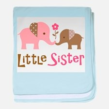Little Sister - Mod Elephant baby blanket