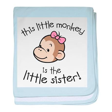 Little Sister - Monkey baby blanket