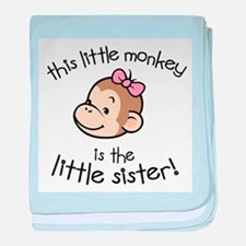 Little Sister - Monkey baby blanket