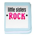 Little Sisters Rock baby blanket