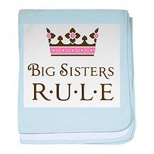 Big Sisters Rule baby blanket