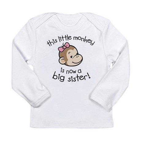 Big Sister - Monkey Face Long Sleeve Infant T-Shir