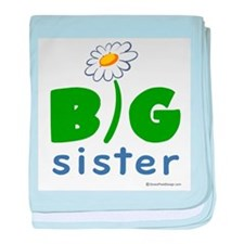 Big Sister - Daisy baby blanket