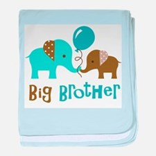 Big Brother - Mod Elephant baby blanket