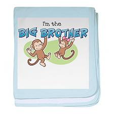 Big Brother - Monkey baby blanket