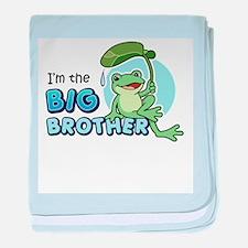 Big Brother Frog baby blanket