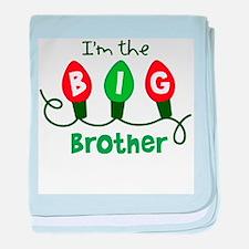 Big Brother Christmas lights baby blanket
