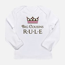 Big Cousins Rule Long Sleeve Infant T-Shirt