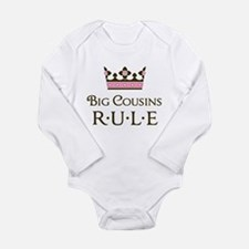 Big Cousins Rule Long Sleeve Infant Bodysuit