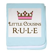 Little Cousins Rule baby blanket