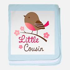 Little Cousin - Mod Bird baby blanket