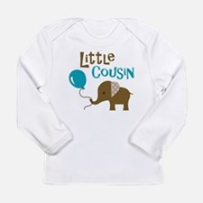 Little Cousin - Mod Elephant Long Sleeve Infant T-