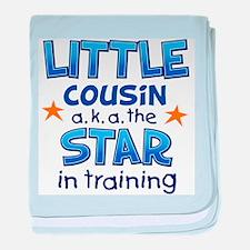 Little Cousin - Star (Blue) baby blanket