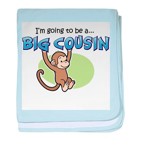 Big Cousin to be (Monkey) baby blanket