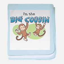I'm the Big Cousin (Monkey) baby blanket