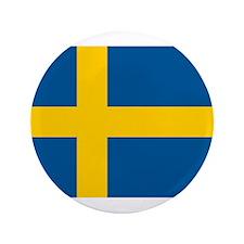 """Swedish Pride 3.5"""" Button (100 pack)"""